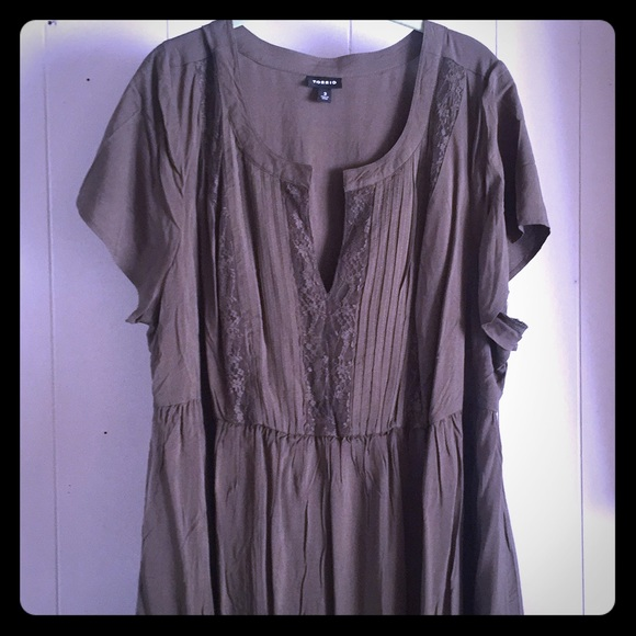 c362a9b8eb9b Torrid Olive Green Pheasant Dress. M 5a8db51845b30c266dedc25a